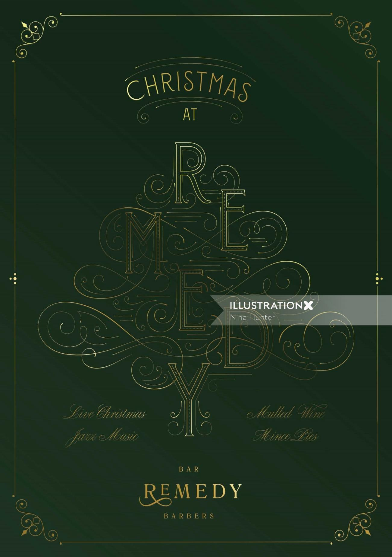 Christmas at Remedy decorative illustration