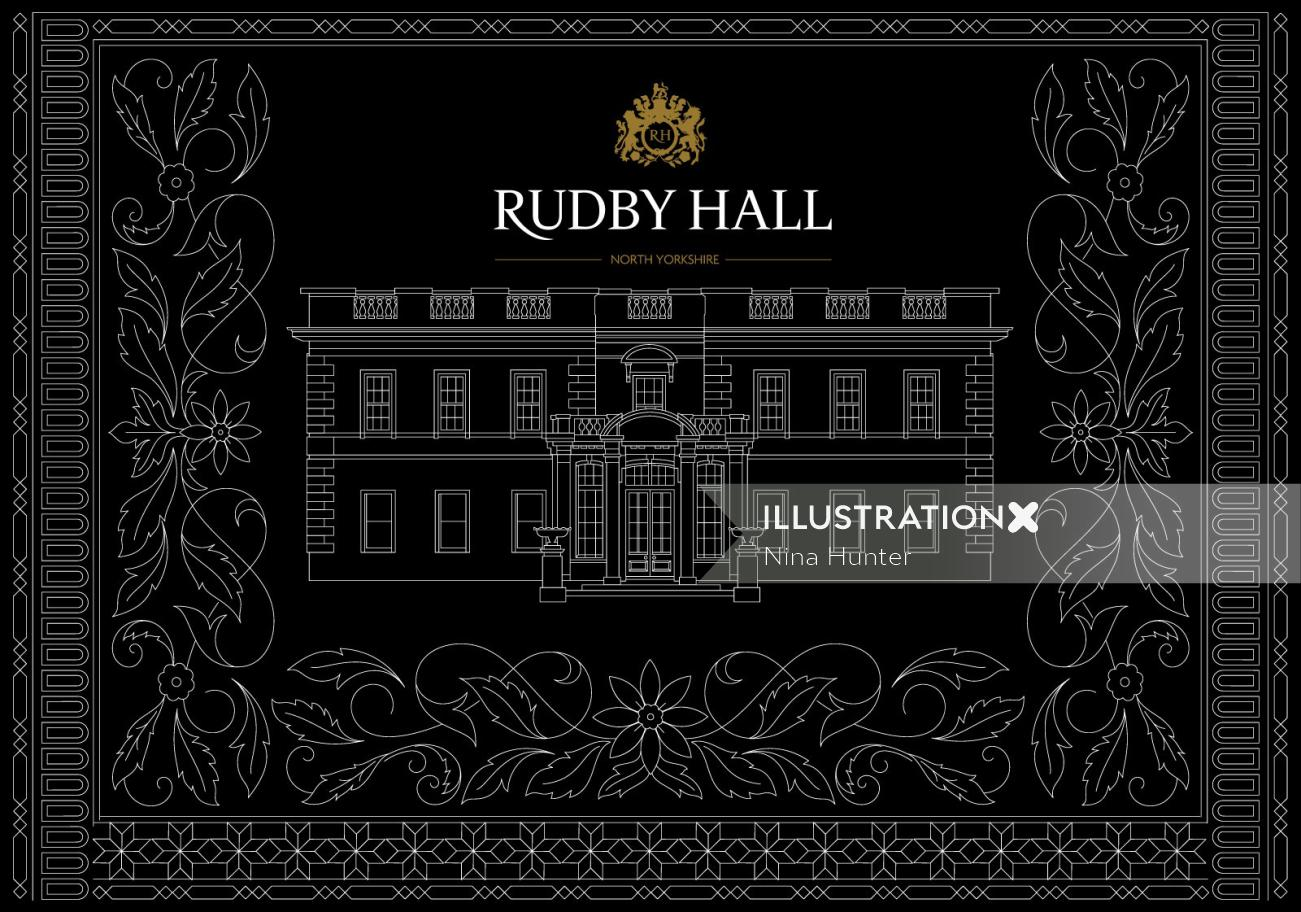 Decorative illustration of Rudby Hall Architecture
