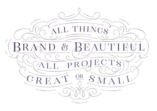 Lettering art of All things brand & beautiful
