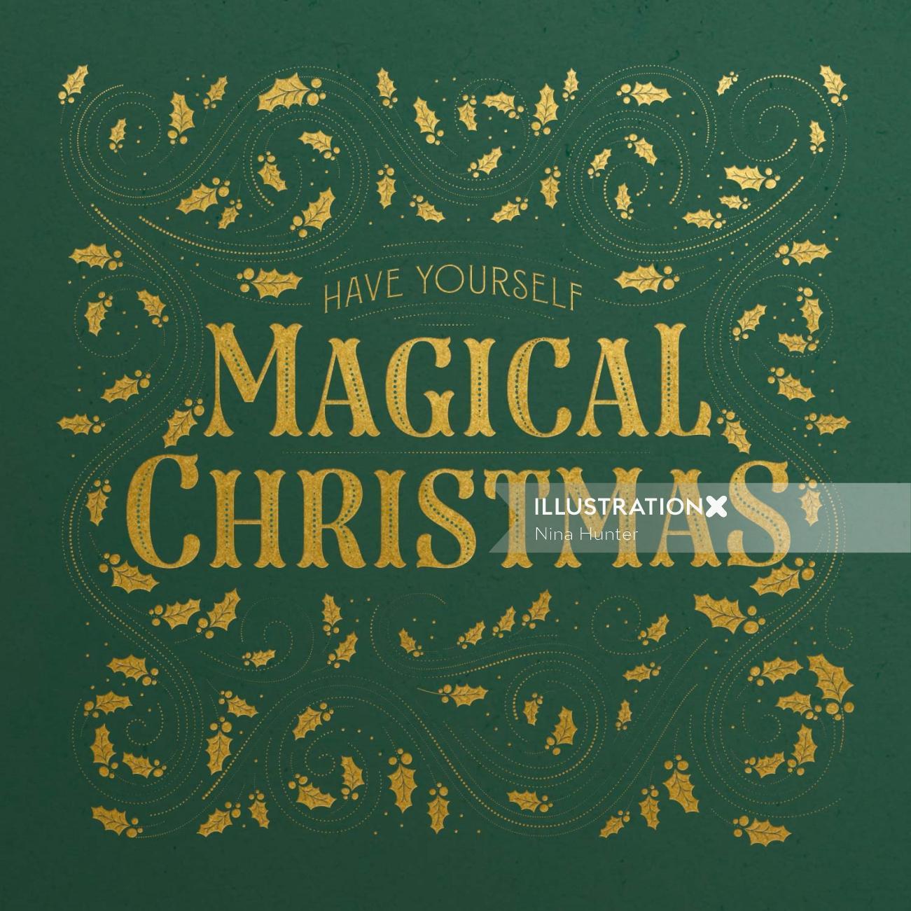 Decorative illustration of Christmas Card