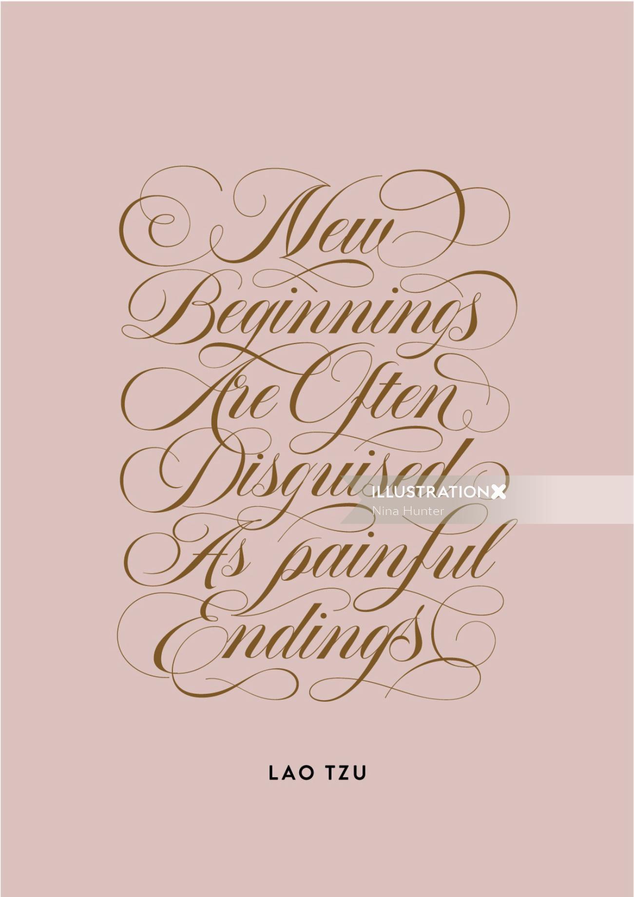Calligraphy art of New Beginnings