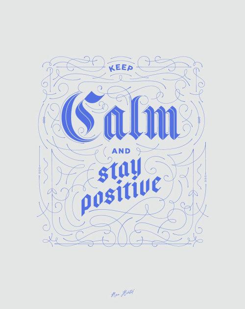 Cartaz tipográfico Keep Calm