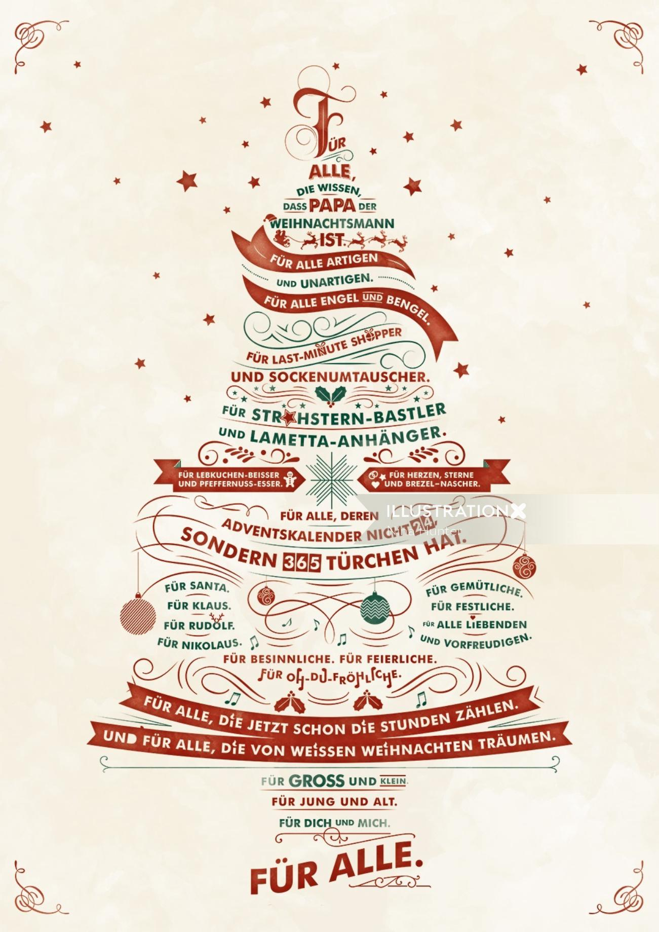 Illustration of Christmas Promotion for a Supermarket Chain