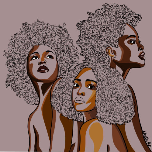Conceptual illustration of black sisterhood