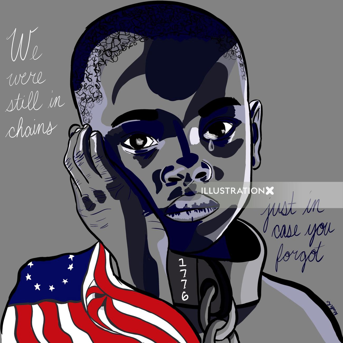Digital painting of independence for Who