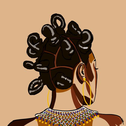 Portrait illustration of Bantu people
