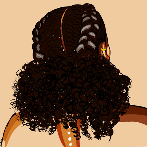 Low Puff hairstyle illustration by NoelleRx