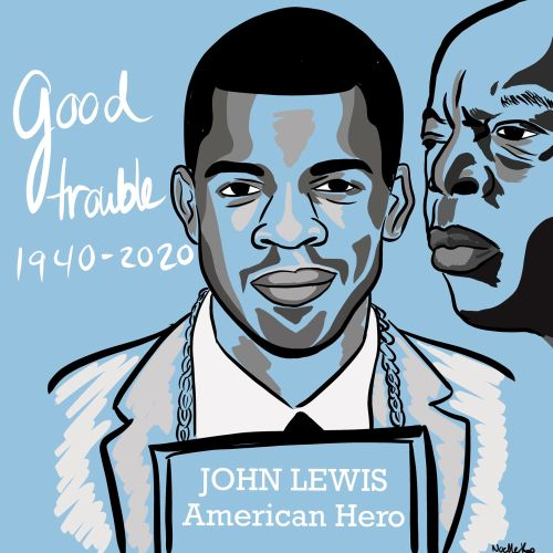 John Lewis Portrait illustration