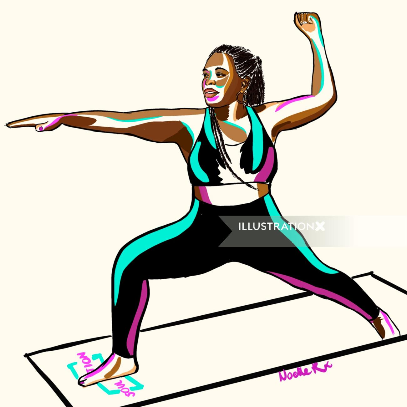 Digital painting for Soul Juvenation Yoga