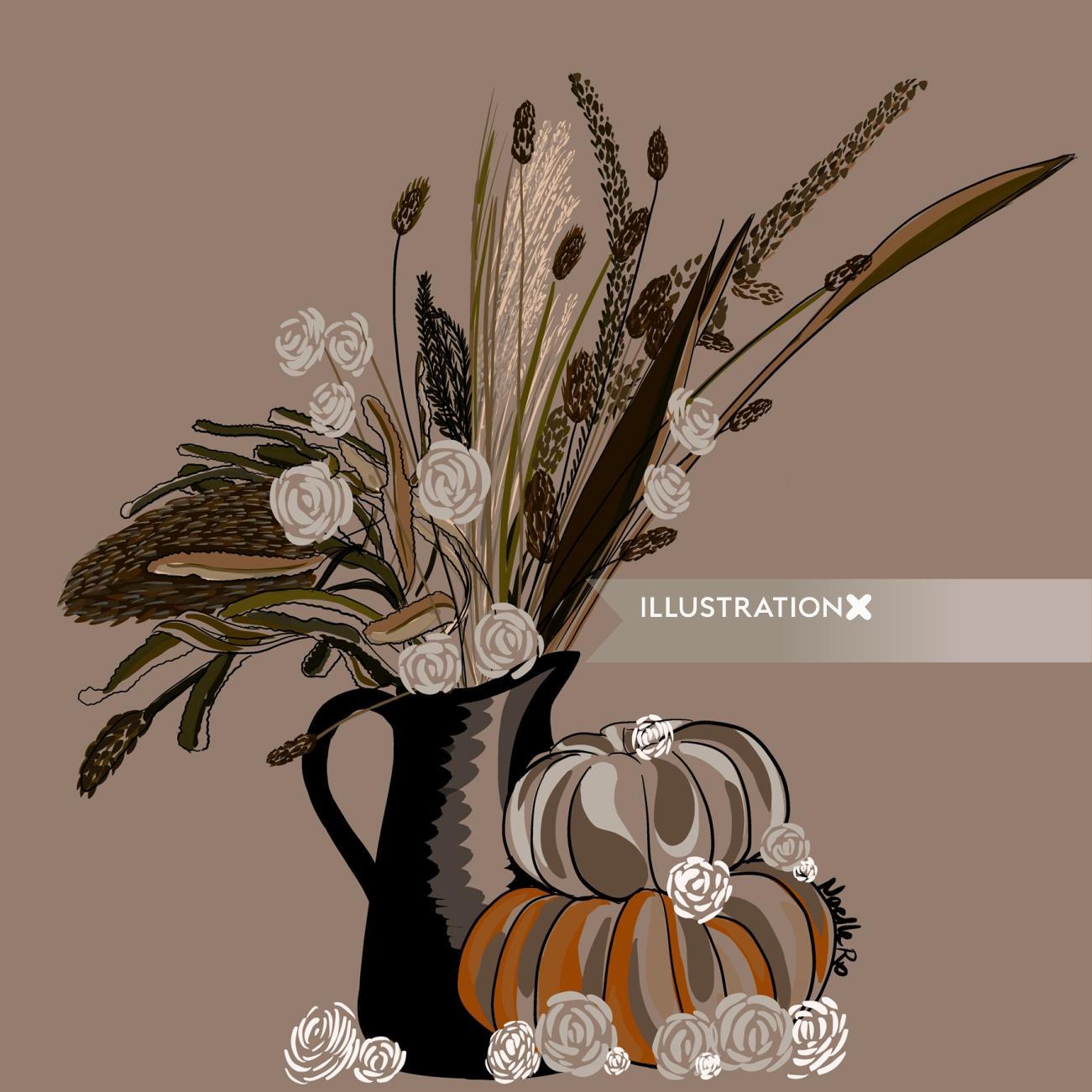 Autumn harvest floral arrangement