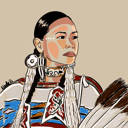 Digital painting of in celebration of indigenous people