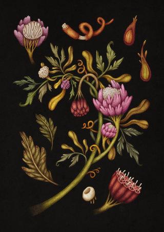 Dark floral art