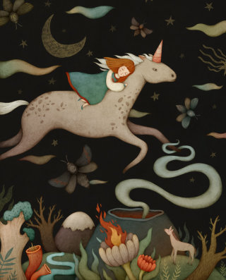 Illustration of unicorn dreams
