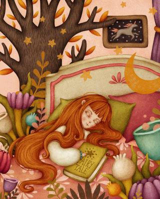 Girl's fairy tale artwork