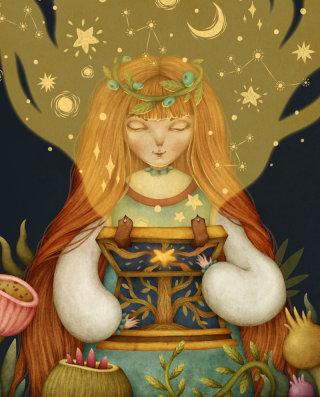 Magic box and girl art by olga svart