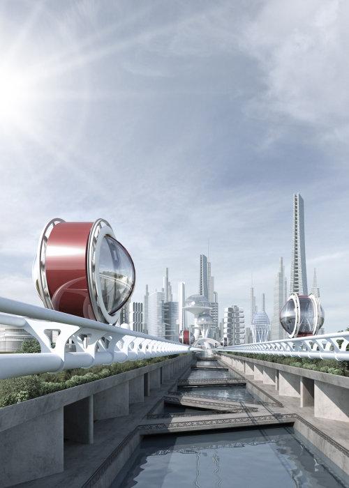 3D / CGI futuristic travel design