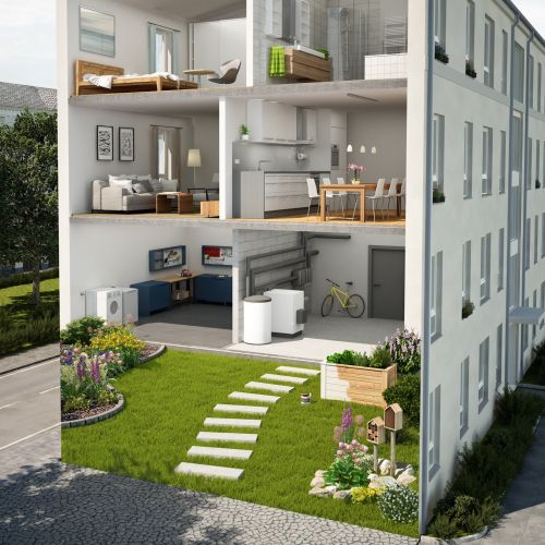 3D / CGI 3 storey building design