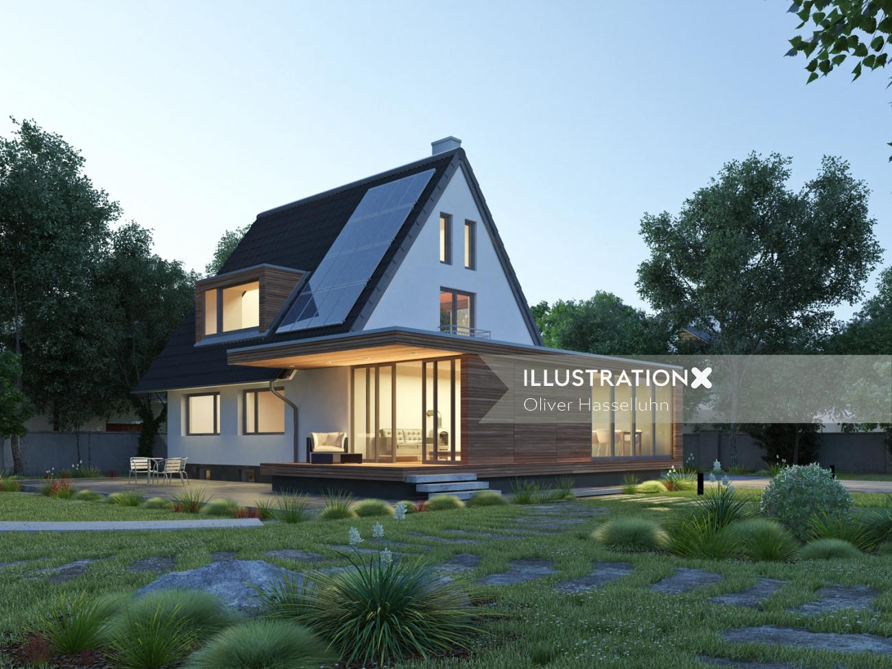 3D / CGI individual house architecture