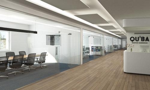 3D / CGI multi compartment office design