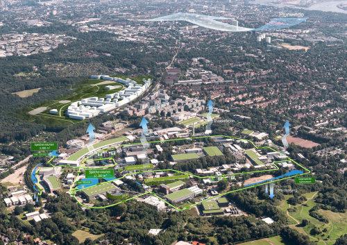 3D / CGI top city view