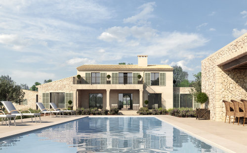 3d / CGI House with swimming pool