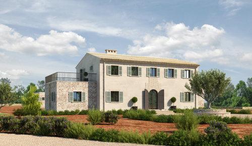 3d / CGI house with garden