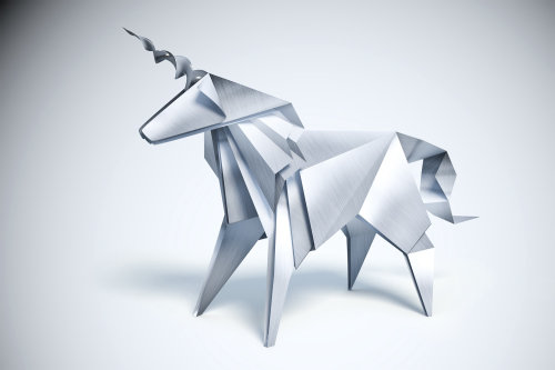 3D / CGI metallic horse