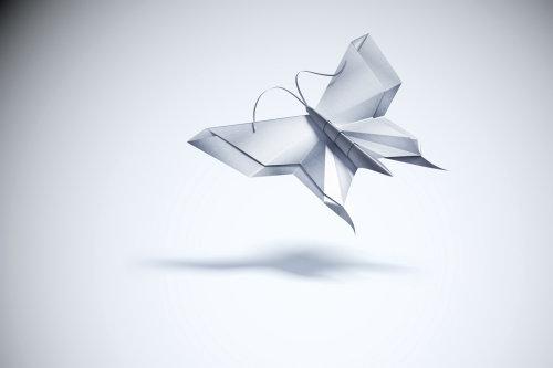 3d / CGI metallic butterfly