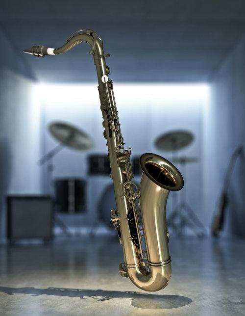 3d / CGI saxophone