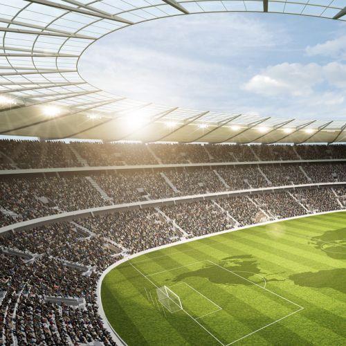 3D / CGI football stadium