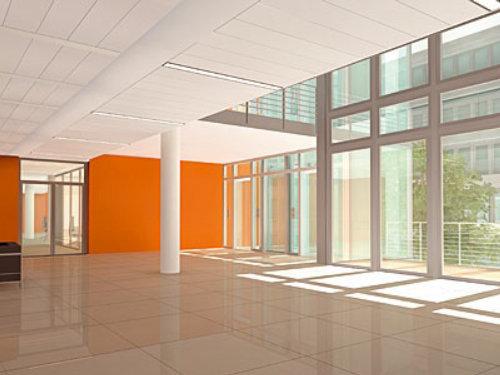 3D illustration of haspa foyer