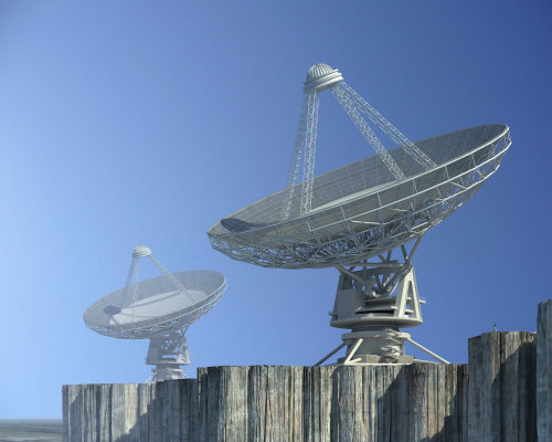 Radioteleskop technical illustration