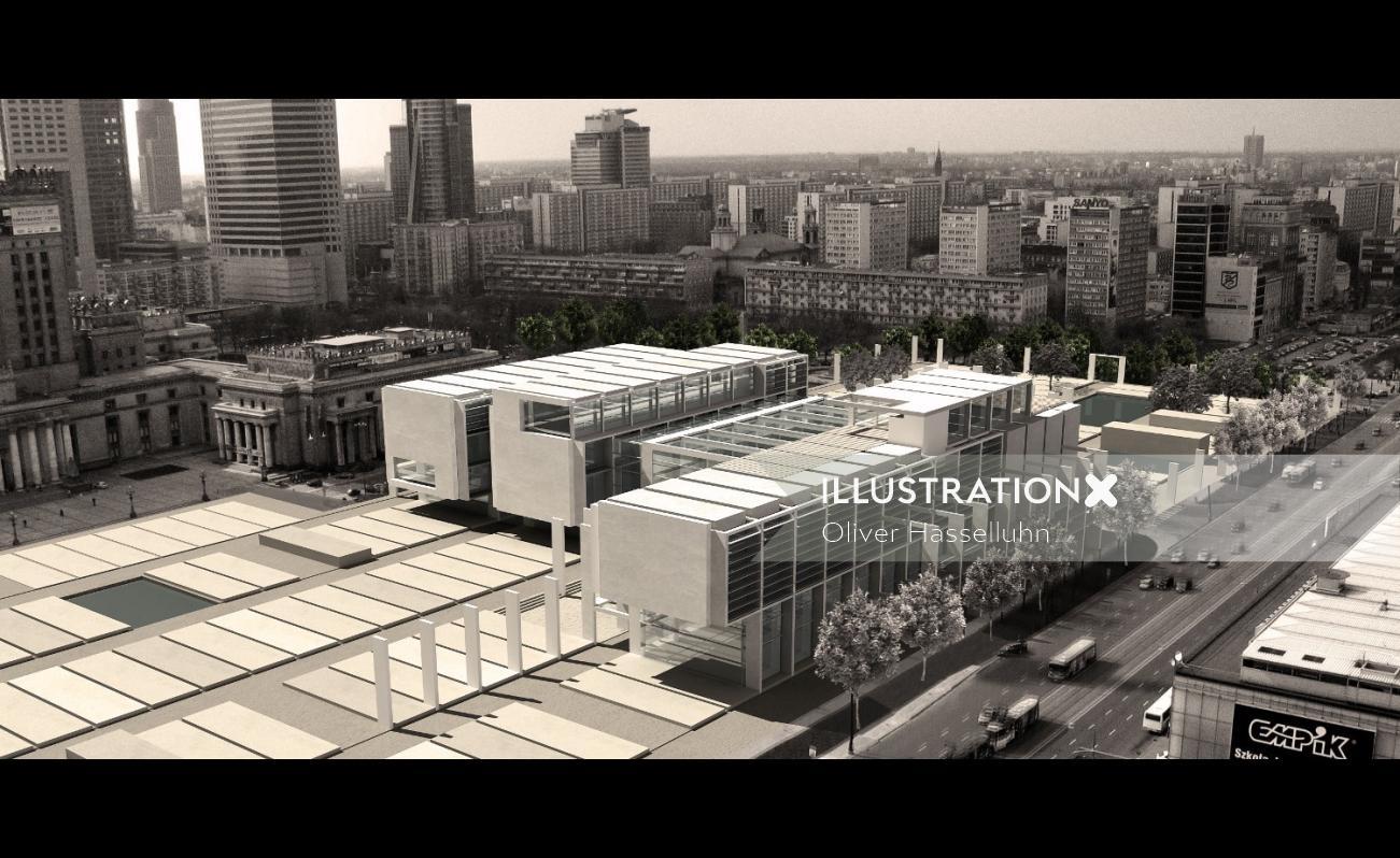 Warschau Museum - Architectural illustration