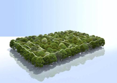 CGI Rendering design of Fuss ball field