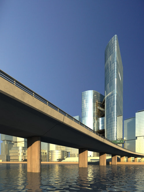 Architecture art of skyline