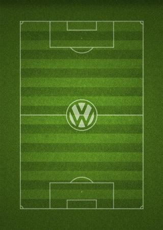 Aerial view of Fussball Spielfeld