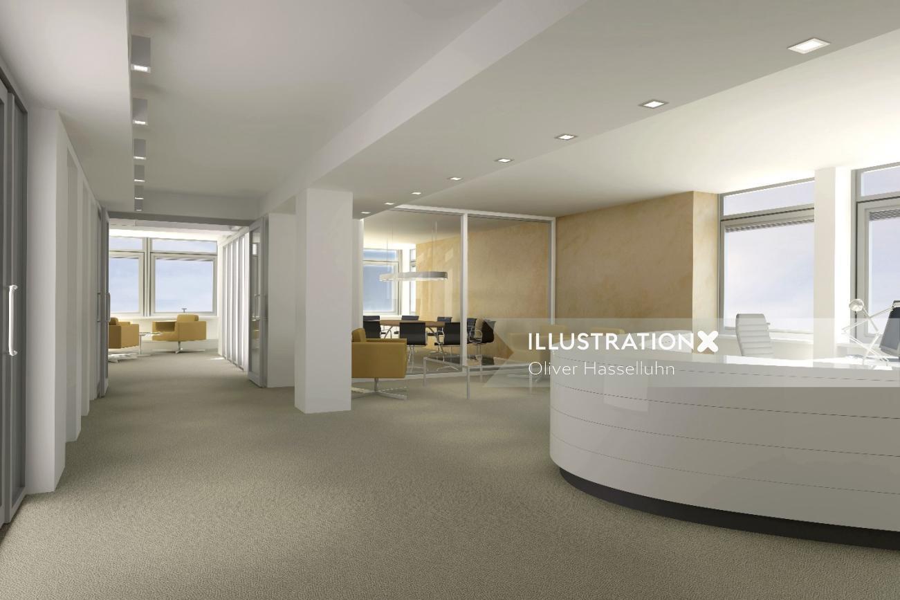 3D Modeling interior design of an office
