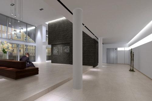 3D illustration of Foyer