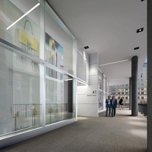 Eingangsbereich architecture illustration