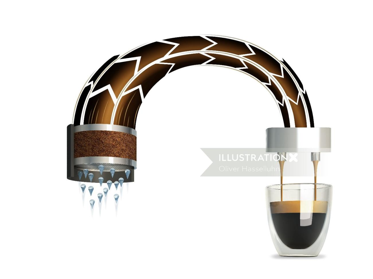 3D illustration of Espresso