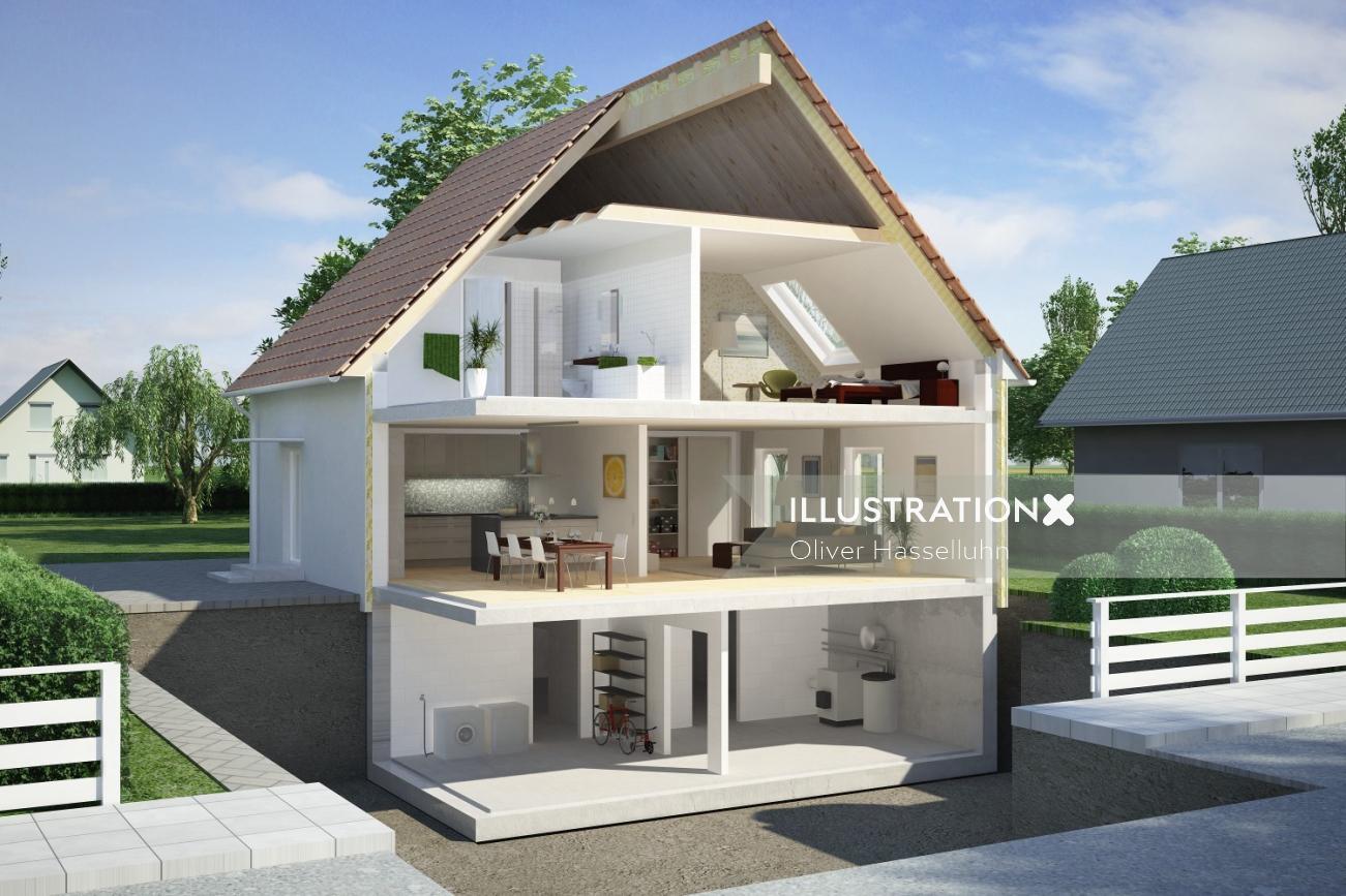 Architecture design of Schnitt EFM-Haus 1
