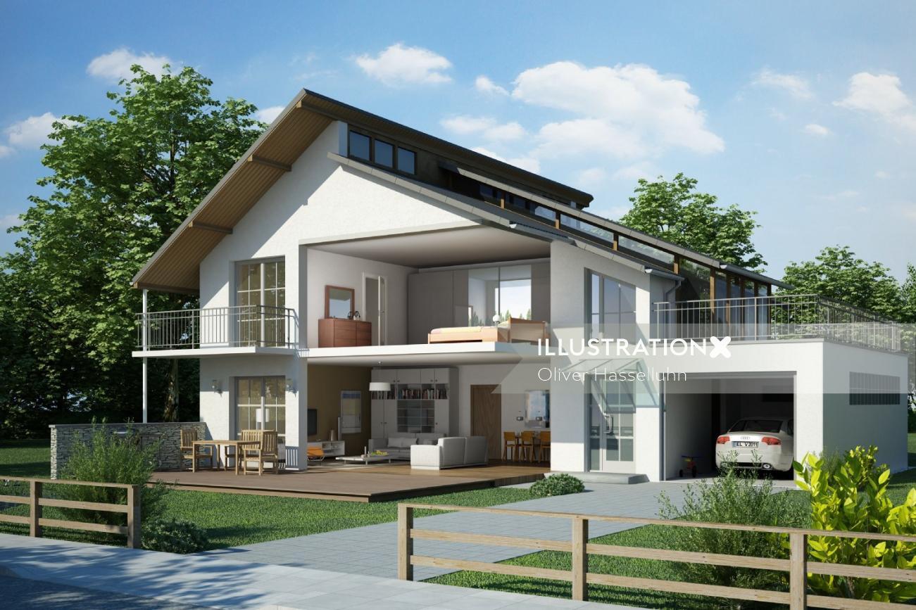 Architecture design of Schnitt EFM-Haus 2