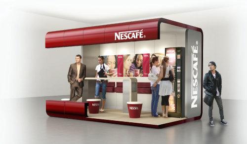 3d / CGI Nescafe canteen