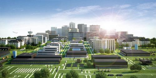3d / CGI city buildings
