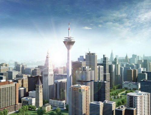 3d / CGI building architecture