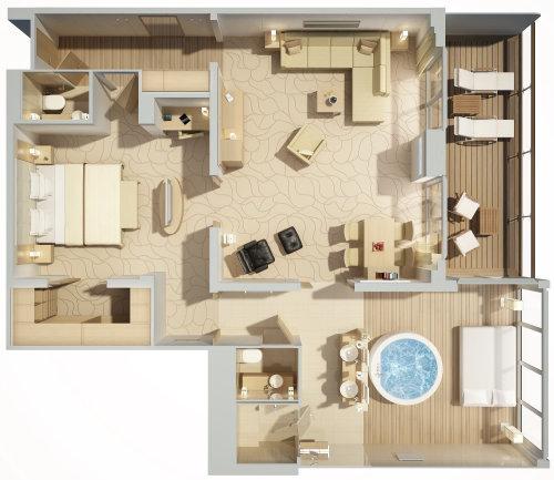 3d / CGI  Top view room design