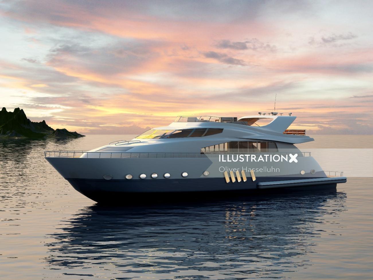 3d / CGI Luxury yacht