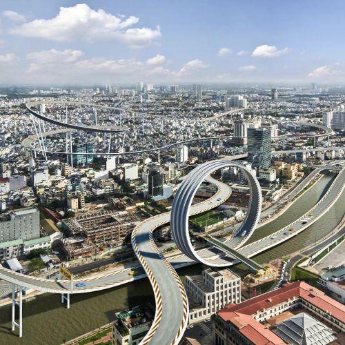 3d / CGI futuristic architecture design