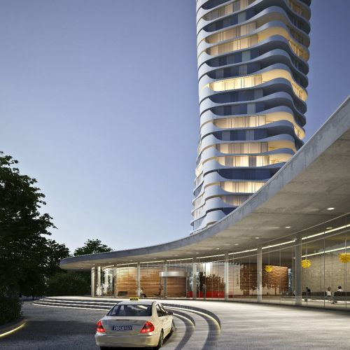 3d / CGI Architecture of building