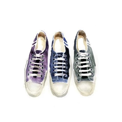 Illustration of Converse sneakers